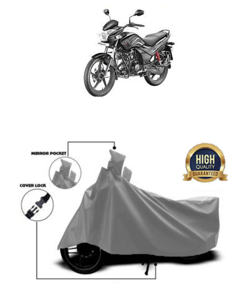 QualityBeast two wheeler cover for Hero Passion X Pro Grey