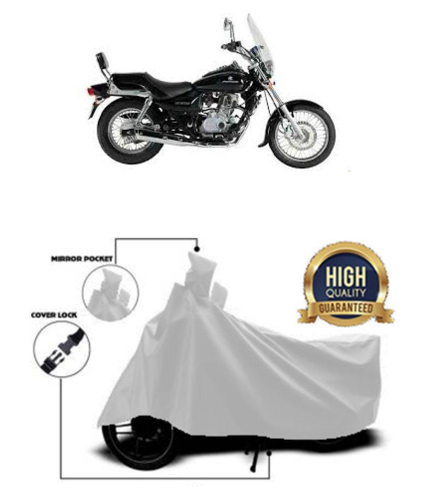 QualityBeast two wheeler cover for Bajaj Avenger 220 DTSi (Silver)