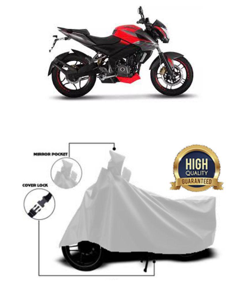 QualityBeast two wheeler cover for Bajaj Pulsar NS 200 (Silver)