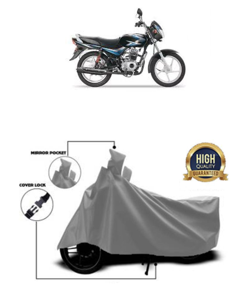 QualityBeast two wheeler cover for Bajaj CB 100 Grey
