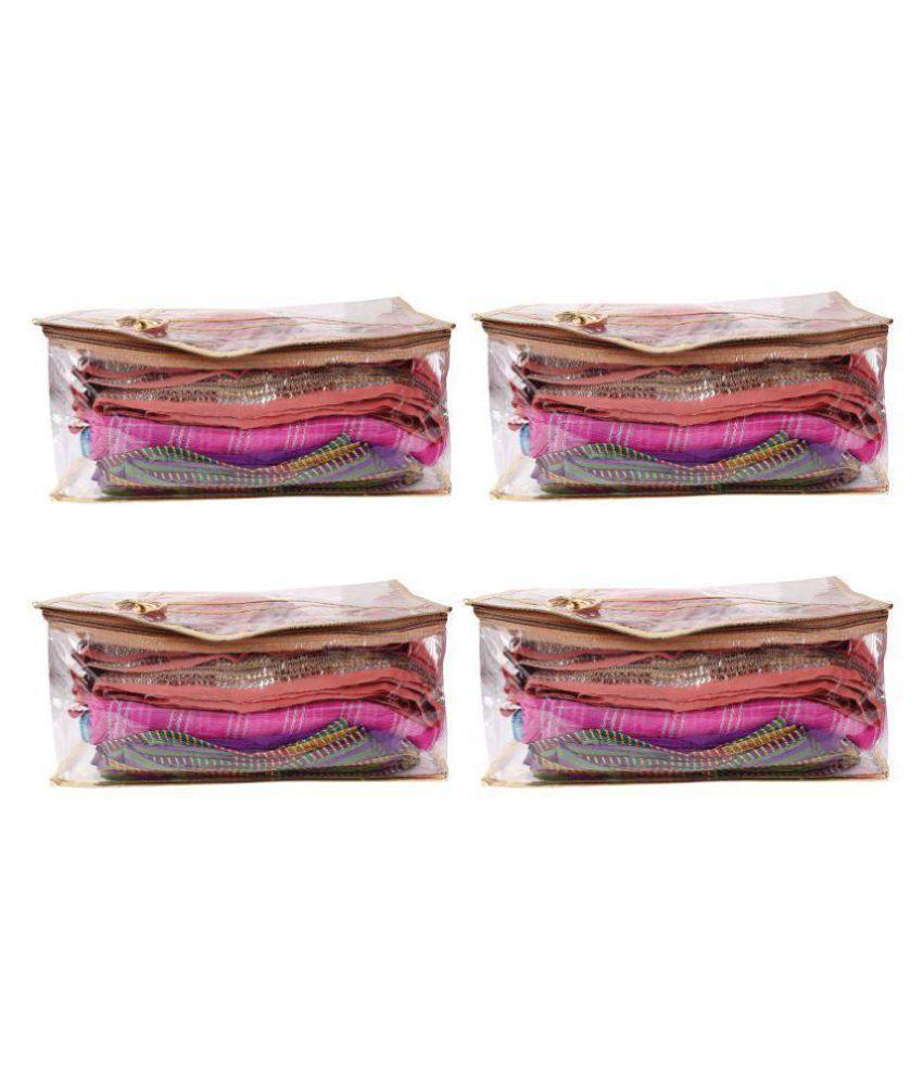 Bulbul Gold Saree Covers - 4 Pcs