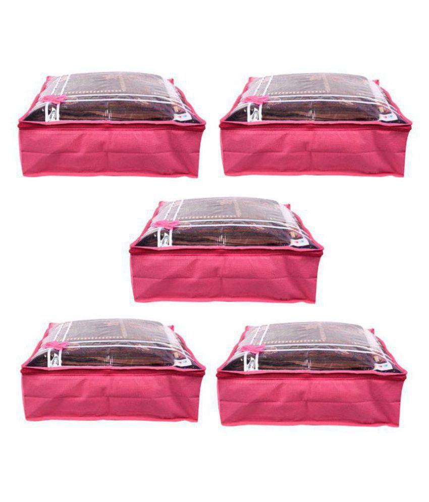 Bulbul Pink Saree Covers - 5 Pcs