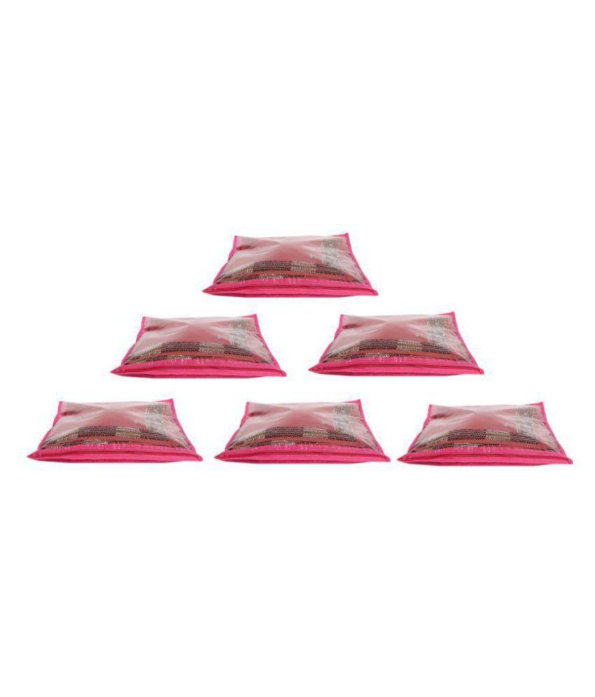 Bulbul Pink Saree Covers - 6 Pcs
