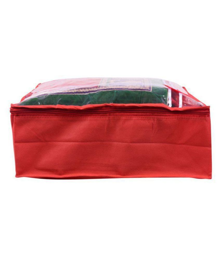 Bulbul Red Saree Covers - 1 Pc