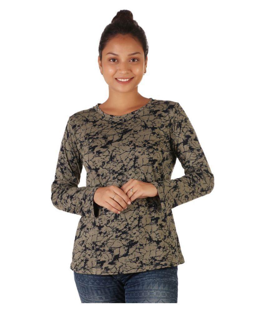 Leean Patterns Cotton Green T-Shirts