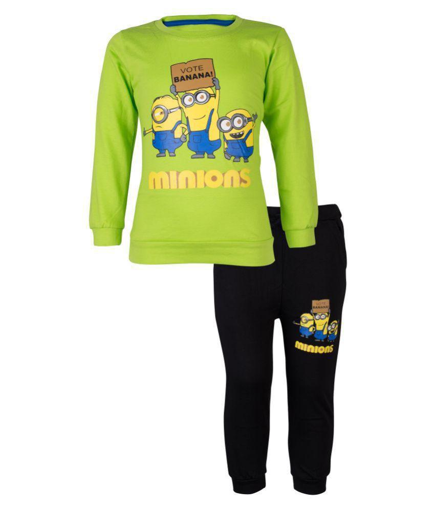 CATCUB Kids Minions Top & Pant Set (Green)