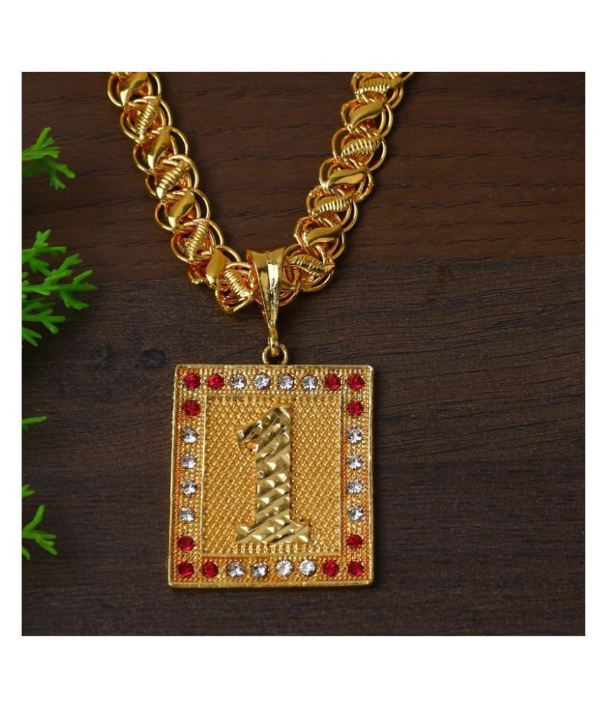 DIPALI Stainless Steel  Pendant Chain Gold Plated, Necklace for men/boys