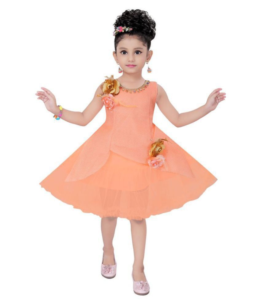 Elegant knee length girls party frock from clobay