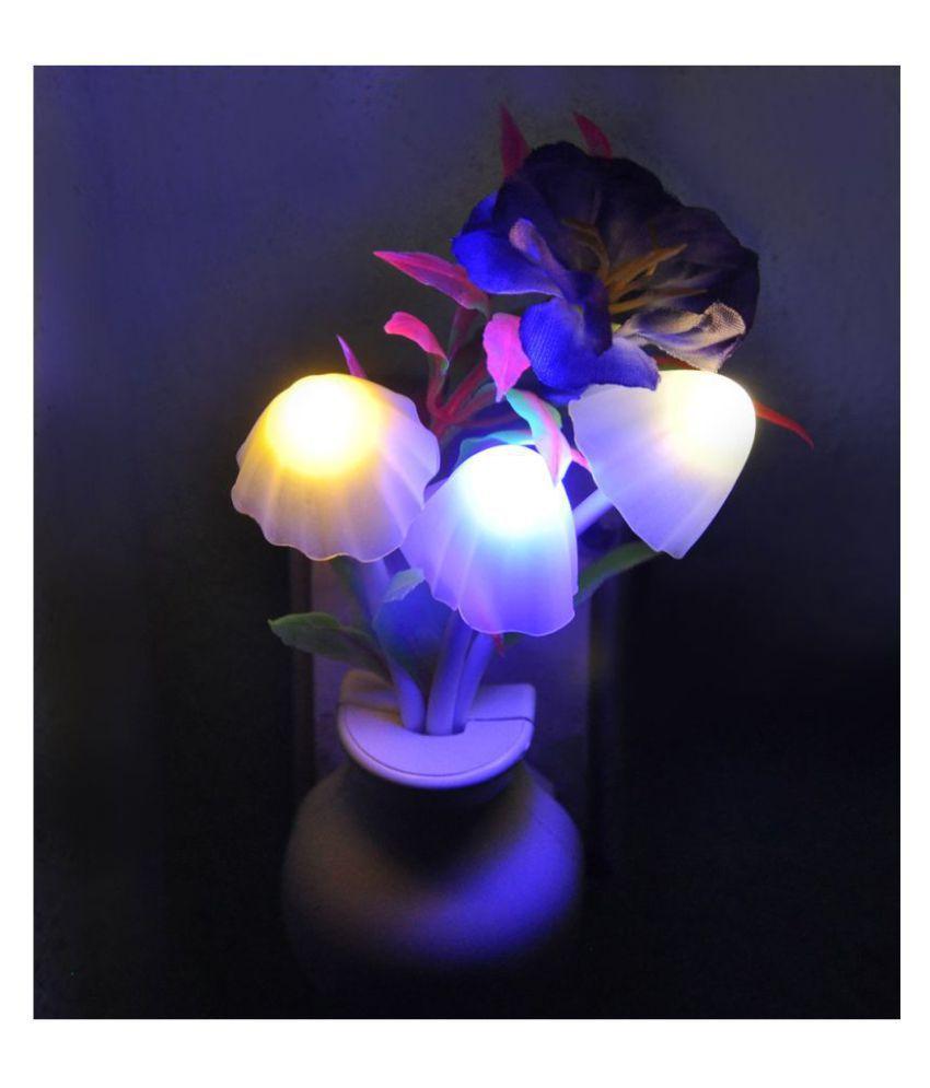 Buzz SMART FANCY MUSHROOM Light AUTOMATIC SENSOR LED COLOR CHANGING LED LIGHT NIGHT LAMP Night Lamp Assorted - Pack of 1