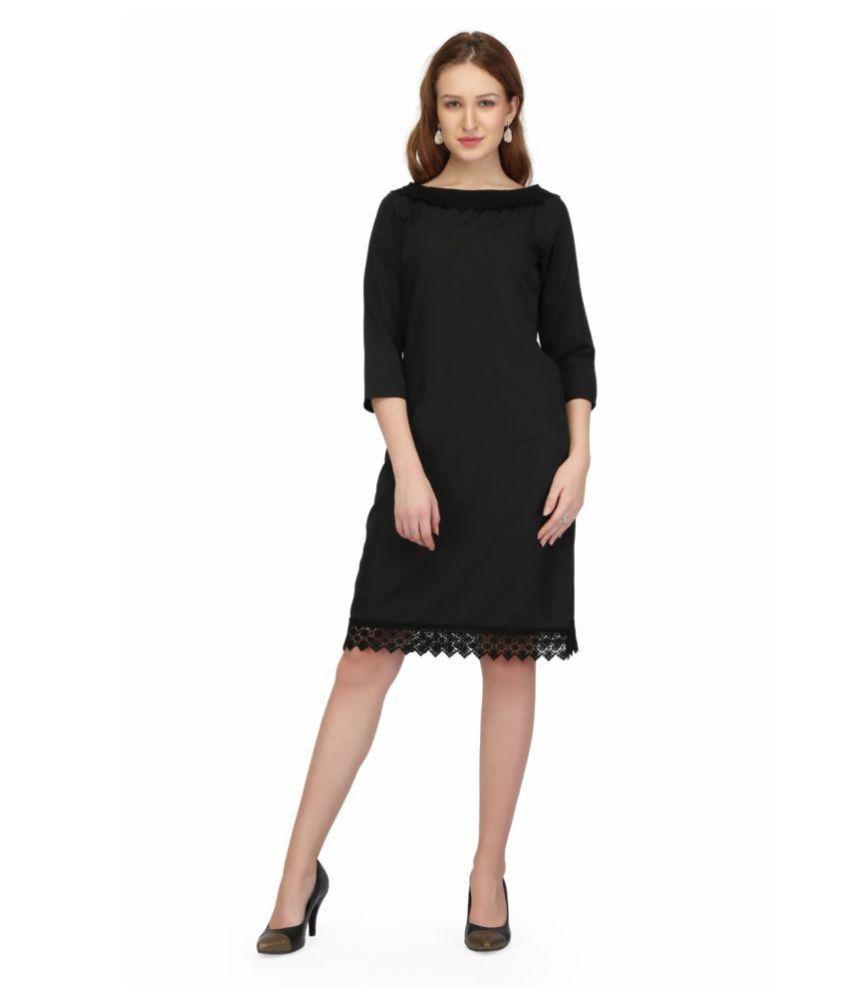 Karmic Vision Crepe Black Regular Dress