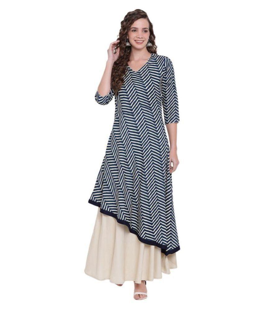 Divena Rayon Blue Regular Dress