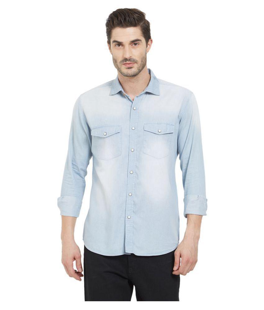 LION & HESS 100 Percent Cotton Blue Shirt
