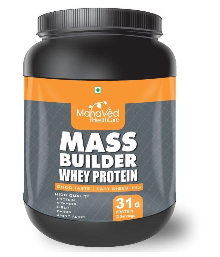 Mahaved Mass Builder Whey Protein   1 kg Mass Gainer Powder