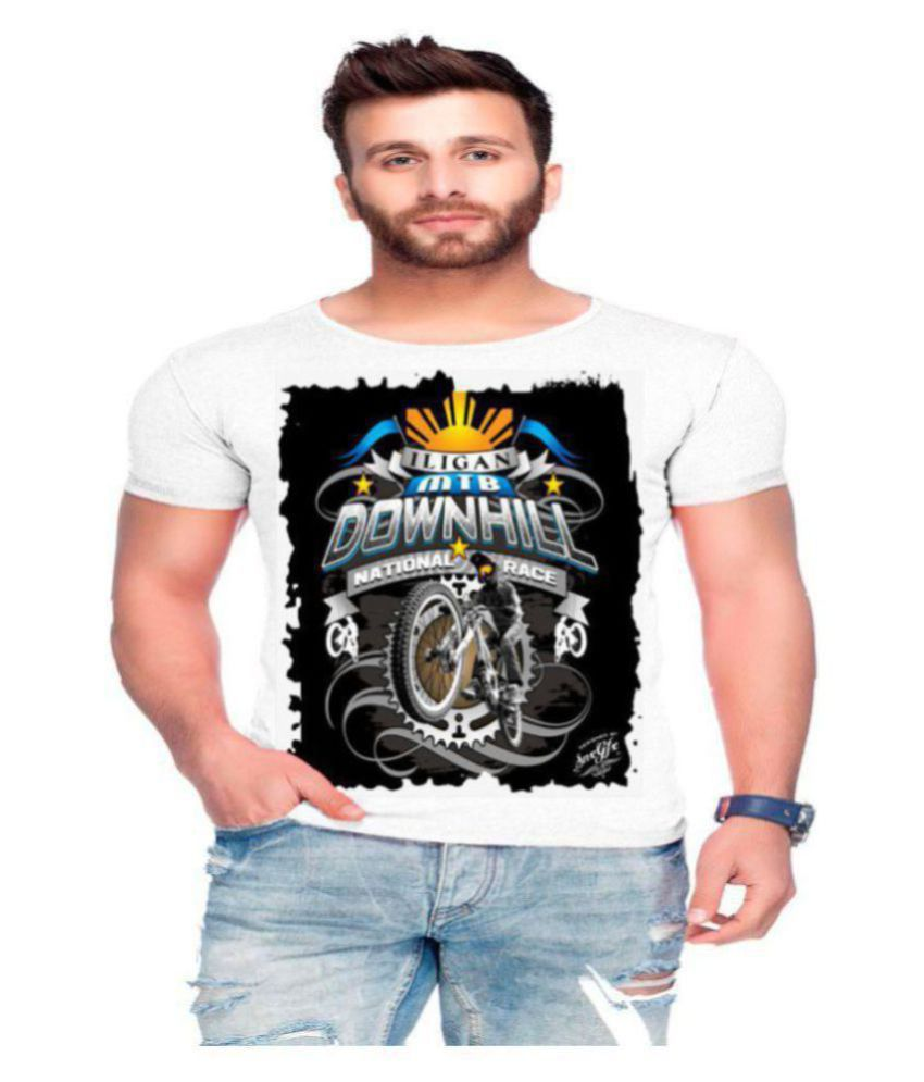 Raves Polyester Cotton Multi Printed T-Shirt