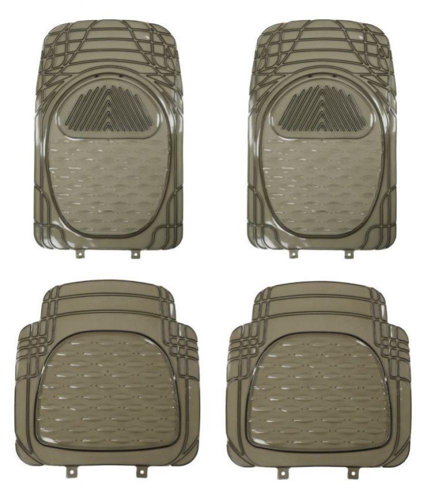 Autofetch Car Floor/Foot Mats (Set of 4) Smoke for Hyundai Verna Transform