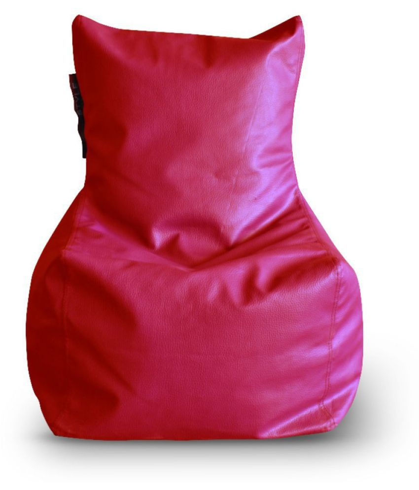 Home Story Chair Bean Bag L Size Red Color Cover Only