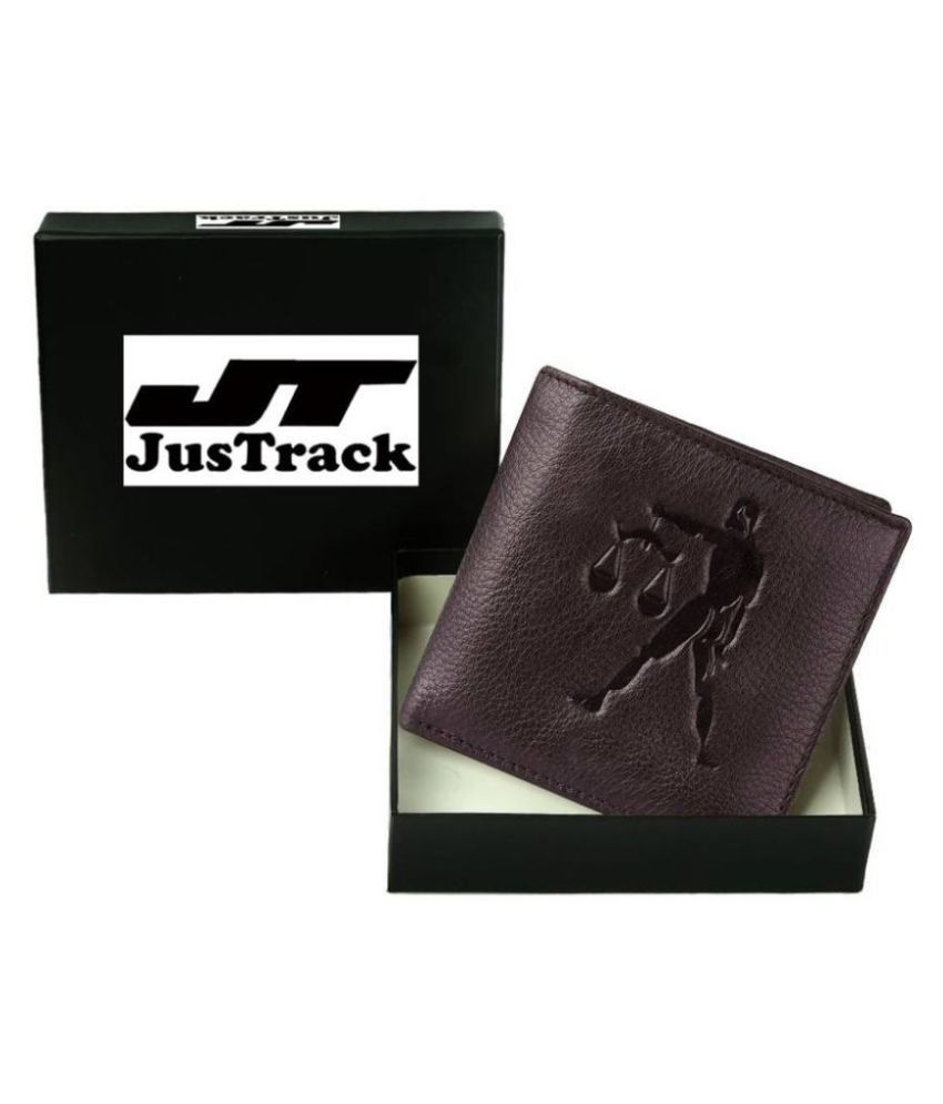 Justrack Leather Brown Casual Money Clipper