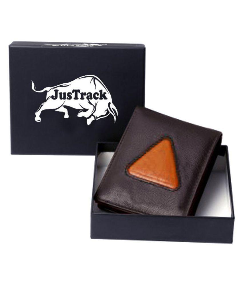 Justrack Leather Brown Formal Regular Wallet