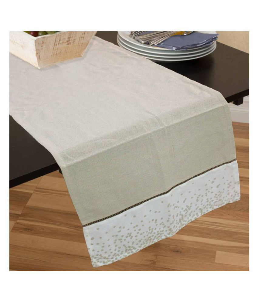 R home 6 Seater Cotton Single Table Runner