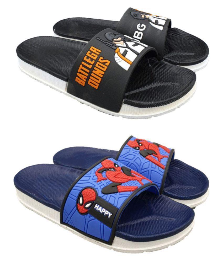 Pampy Angel Pack of 2 Combo Boys Footwear Slippers FlipFlops