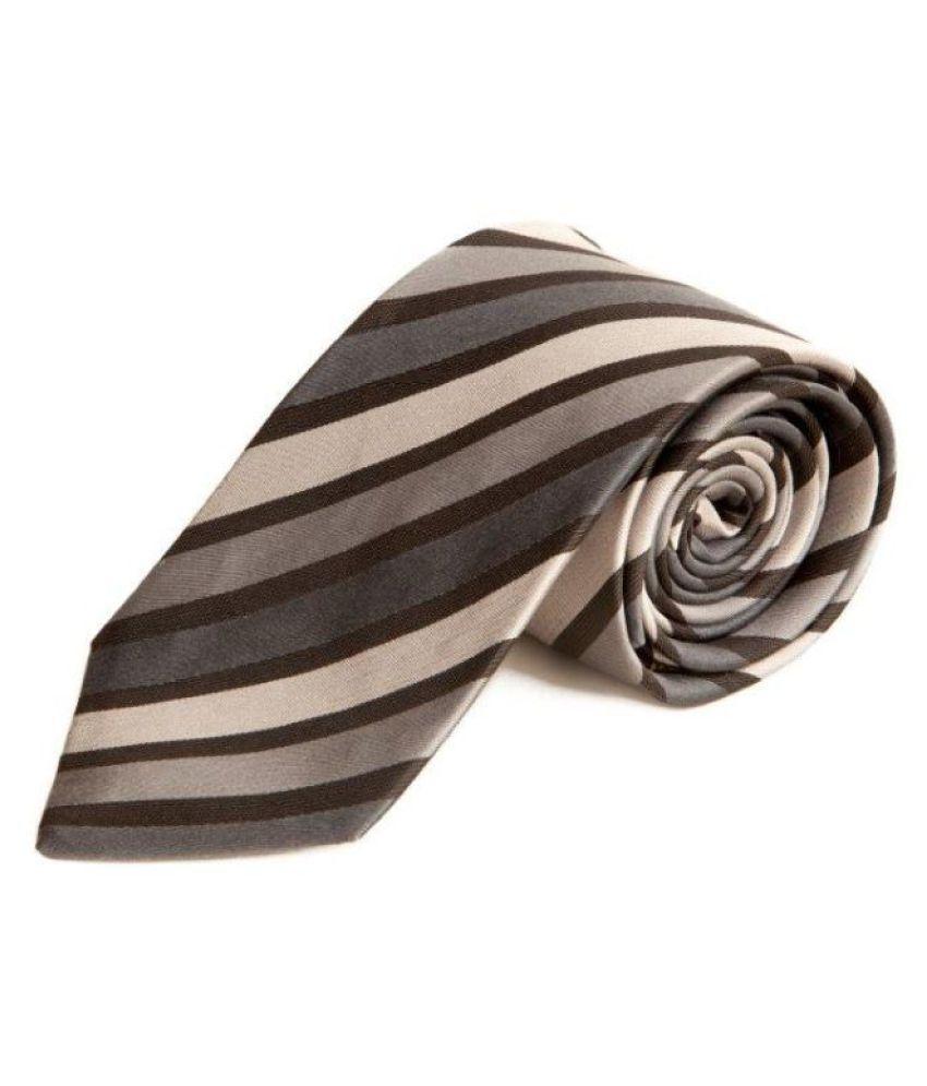 The Vatican Black Stripes Silk Necktie