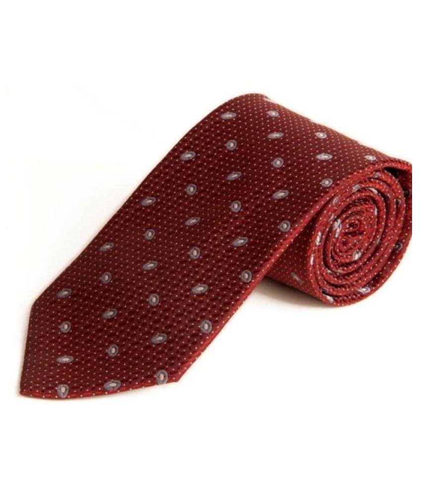 The Vatican Red Abstract Micro Fiber Necktie