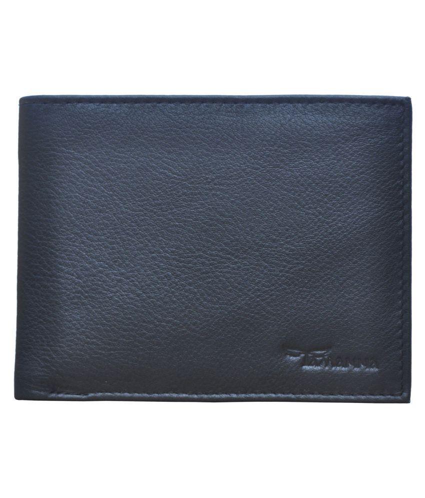Tamanna Leather Black Formal Money Clipper