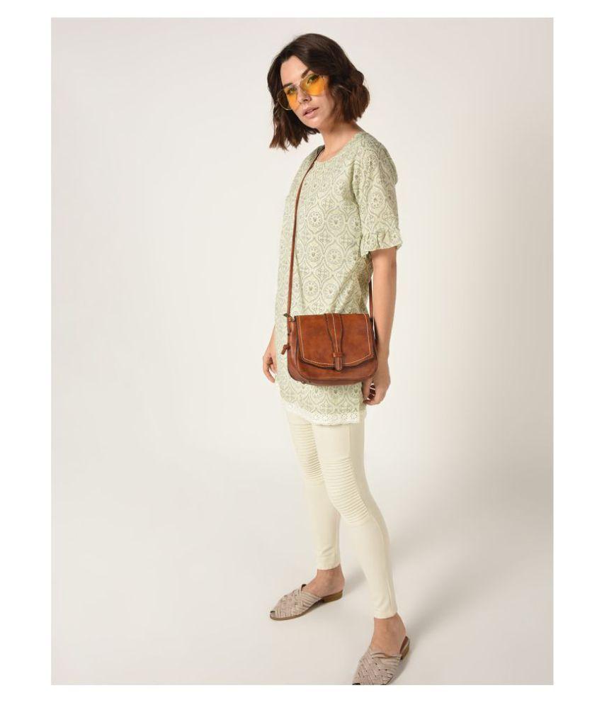 Taaruush Cotton Beige A- line Dress