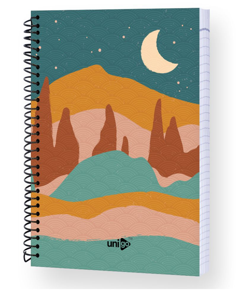 Unigo Spiral Notebook 300 pages (Rulled): Buy Online at ...