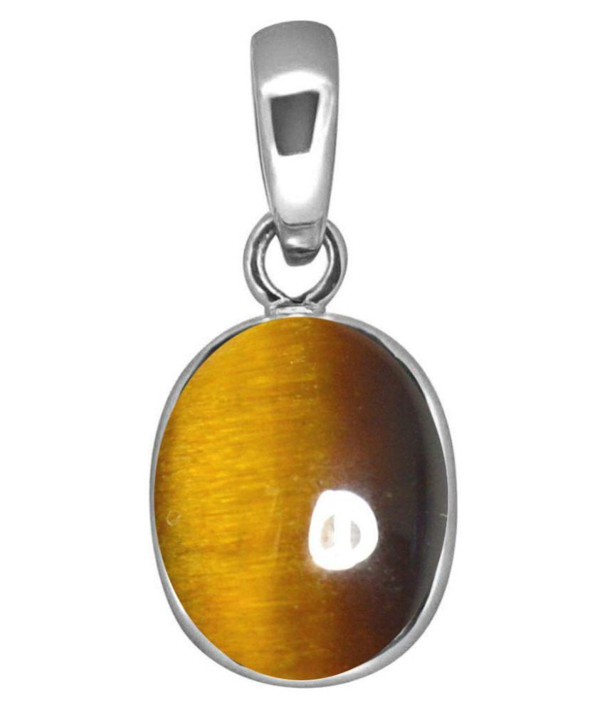 A1 Gems 7.25 Ratti 6.42 Carat A+ Quality Tiger's Eye Gemstone Pendant For Women's and Men's