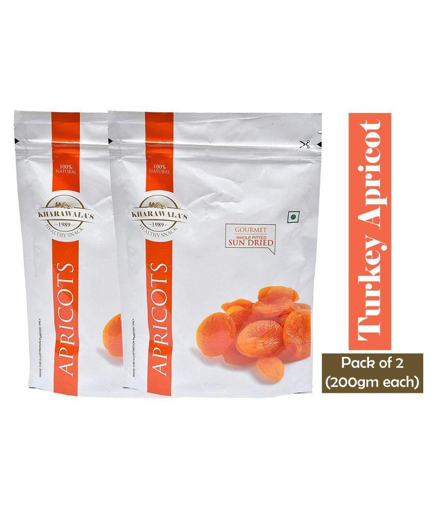 Kharawala's Apricot (Khumani) 400 g Pack of 2