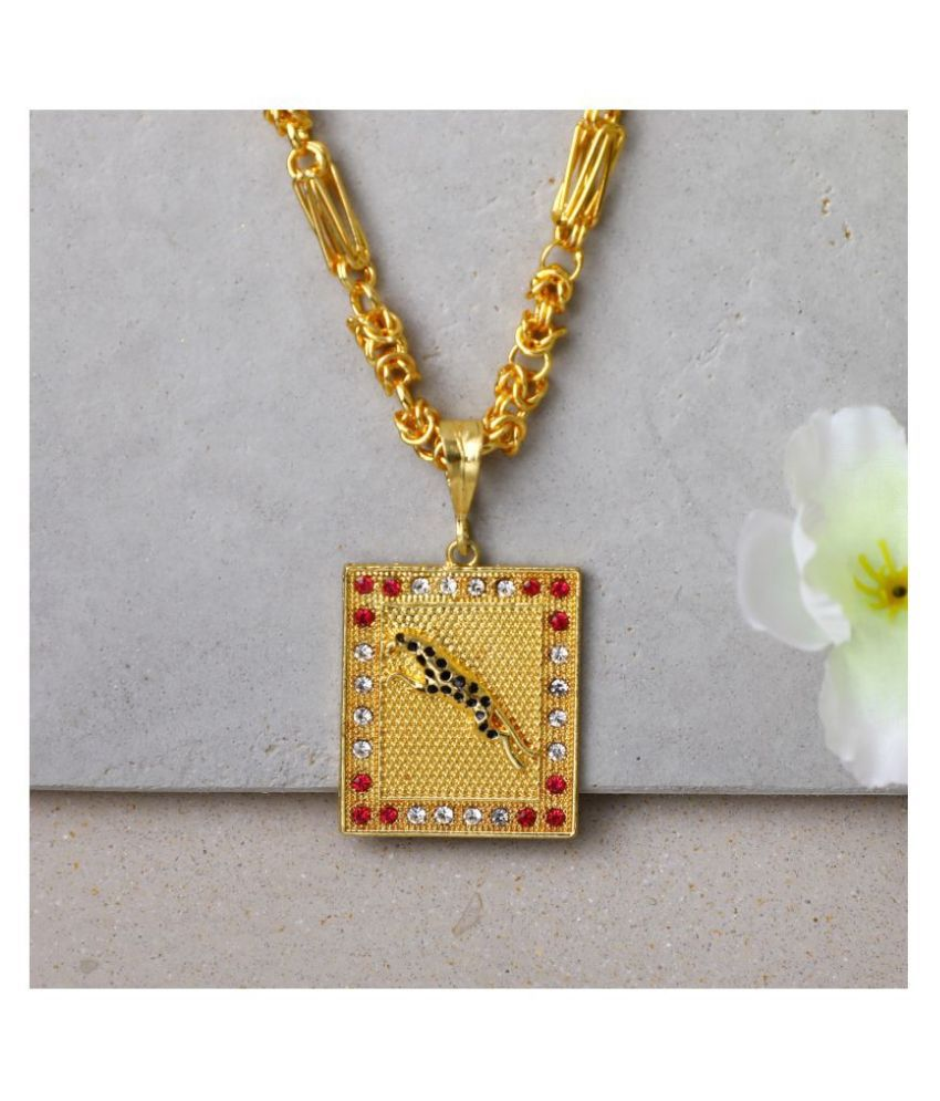 DIPALI Pendant Chain Gold Plated, Necklace for men/boys