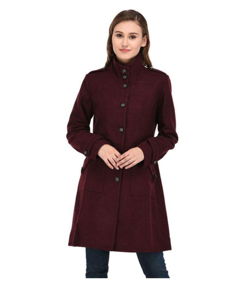 Owncraft Woollen Maroon Over coats