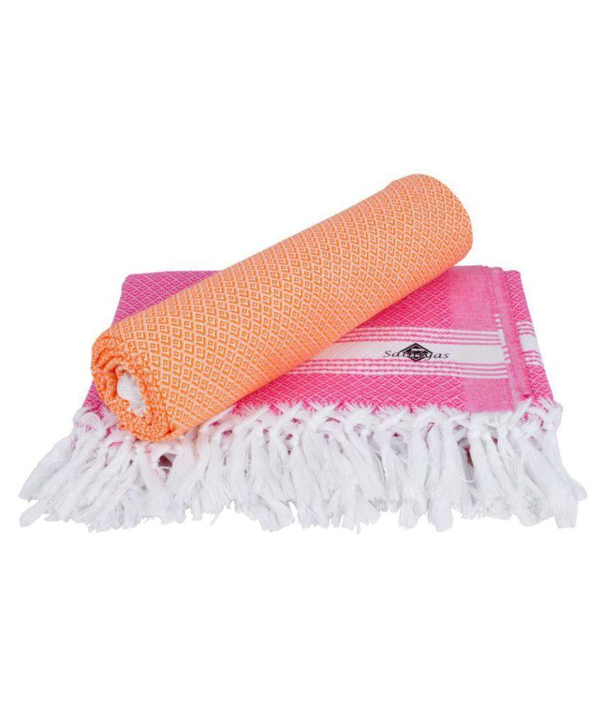 Sathiyas Set of 2 Cotton Bath Towel Multi