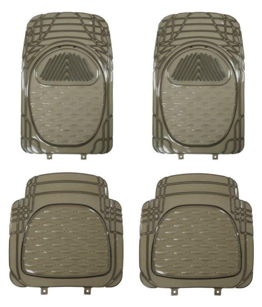 Autofetch Car Floor/Foot Mats (Set of 4) Smoke for Tata Tiago