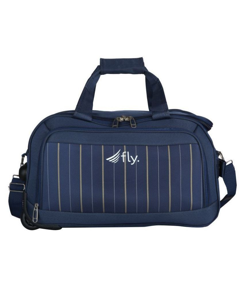 Fly Blue Printed S Duffle Bag