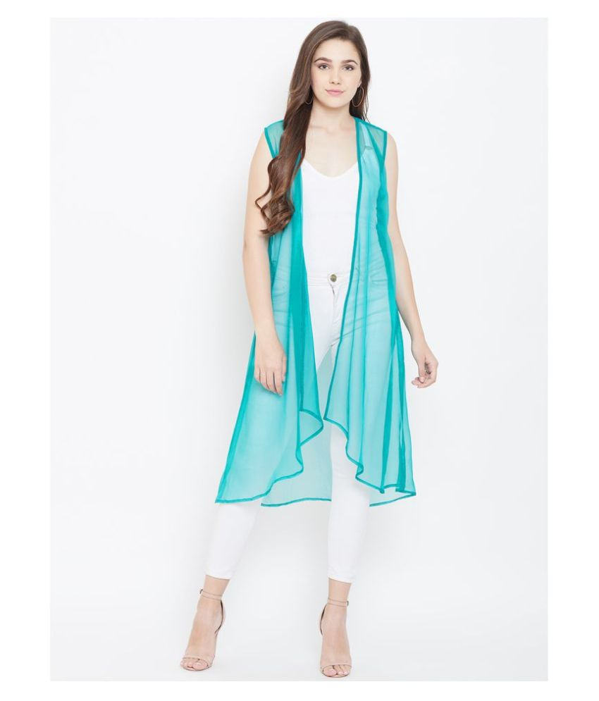 Cottinfab Georgette Shrugs - Turquoise