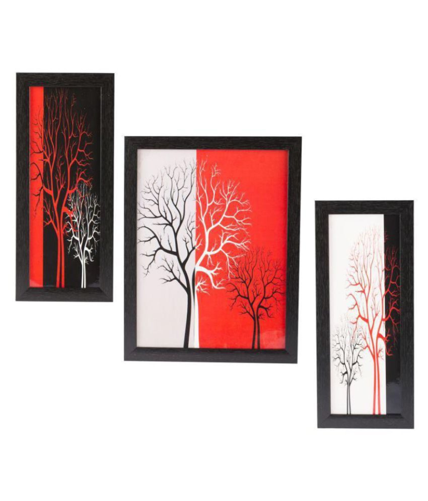 Indianara Floral Synthetic Painting With Frame