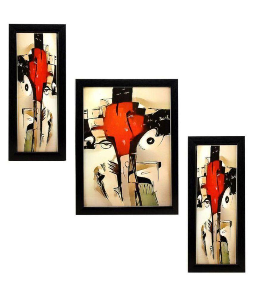 Indianara RELIGIOUS GANESHA Synthetic Painting With Frame