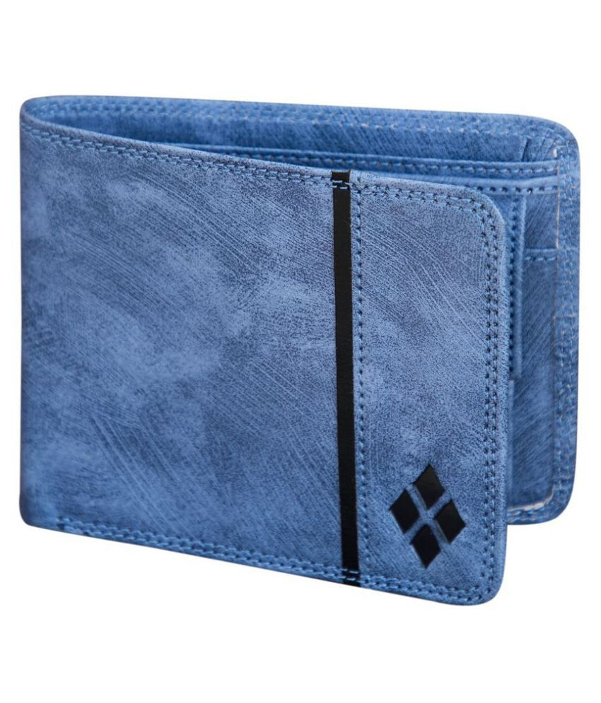 LUXIQE PU Blue Casual Regular Wallet