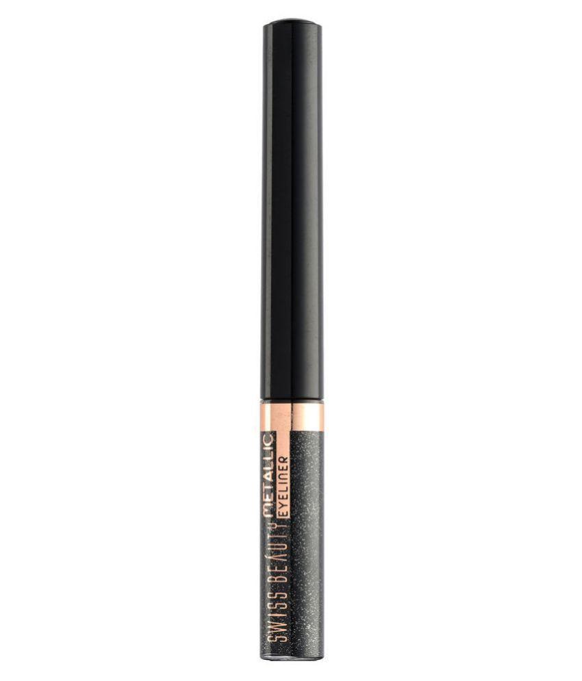Swiss Beauty Metallic Liquid Eyeliner (Grey), 3.2ml