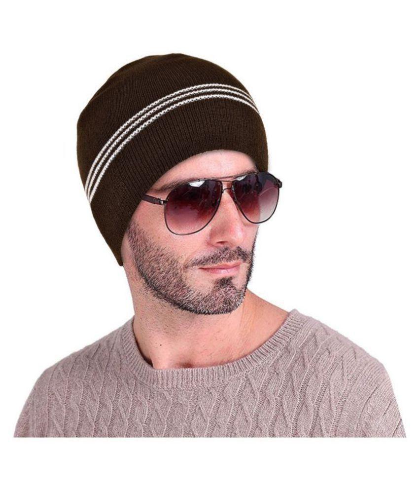 DRUNKEN Brown Plain Wool Headwraps
