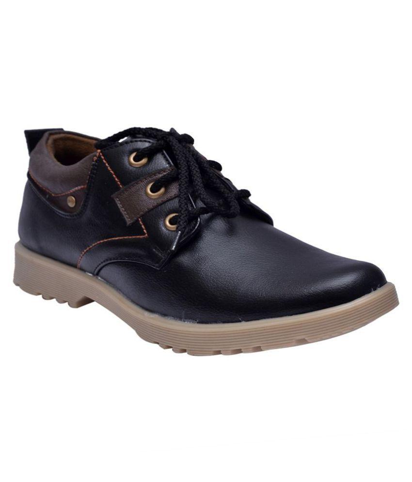 Sir Corbett Lifestyle Black Casual Shoes