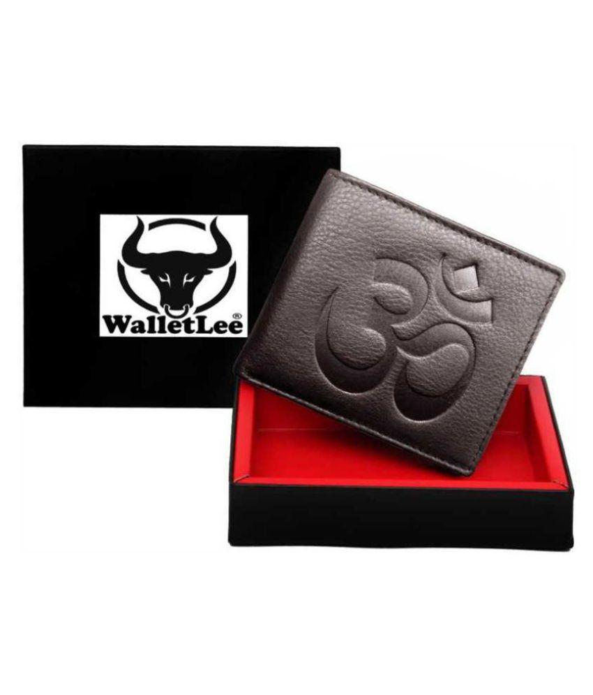 WalletLee Leather Brown Formal Money Clipper