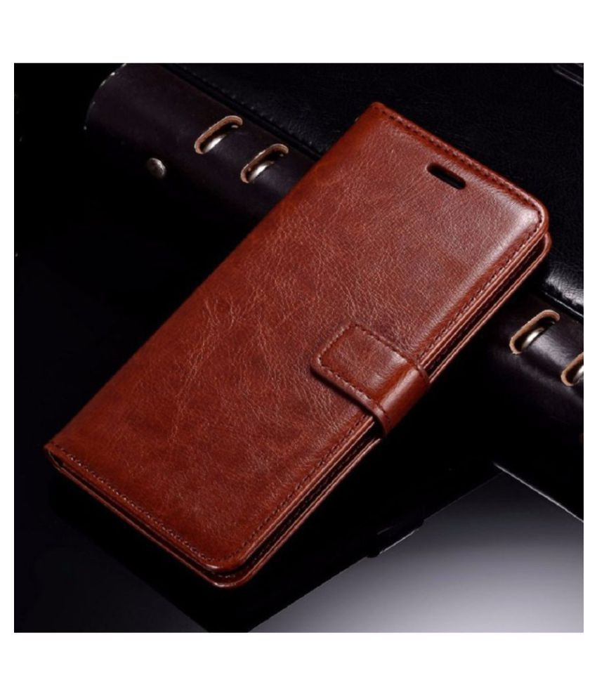Oppo F3 Flip Cover by XORB   Brown