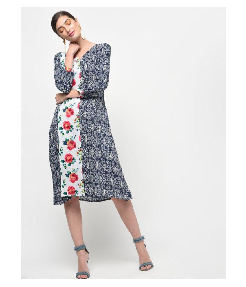Veronique Cotton Multi Color A- line Dress
