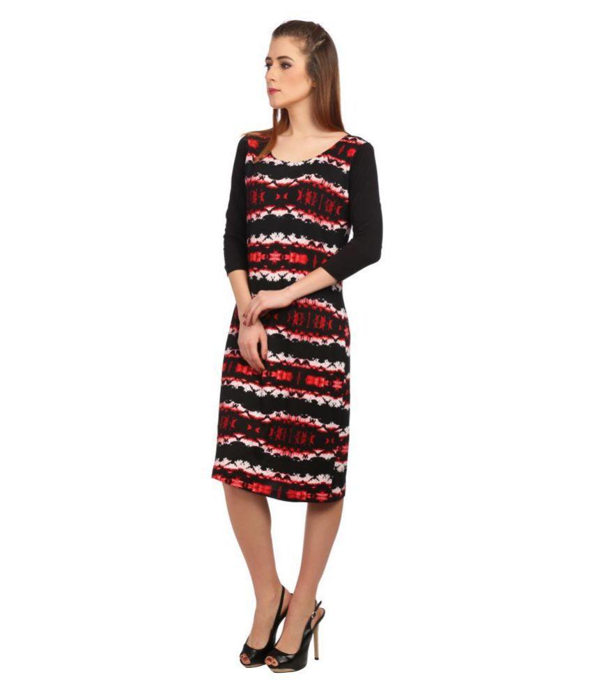 Veronique Polyester Multi Color Regular Dress