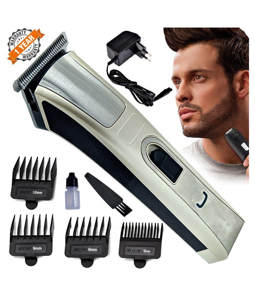 Men #039;s Kemei Waterproof Rechargeable Mustache  amp; Beard Trimmer Hair Clipper Casual Gift Set