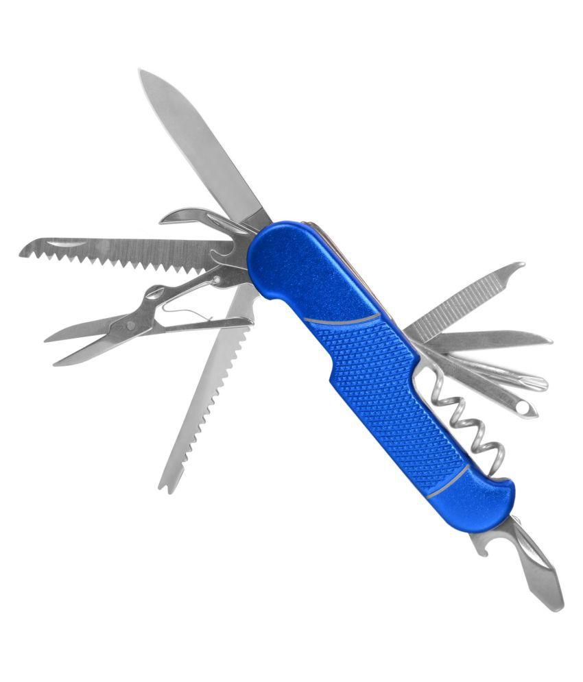 11-in-1 Multi Pocket Army Knife Tool Can Bottle Opener Screwdriver Scissor