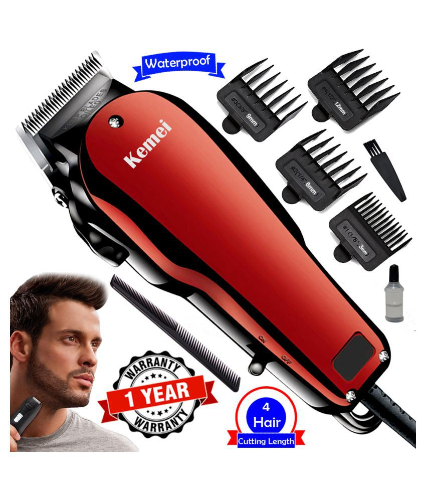 Men's Corded Professional Waterproof Beard Mustache Trimmer Powerful Hair Clippe Casual Gift Set